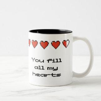 You fill all my hearts Two-Tone coffee mug