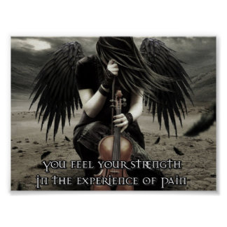 You find your strength in the experience of Pain Print