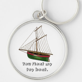 You float my toy boat. keychain