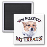 You FORGOT my treats 2 Inch Square Magnet
