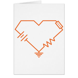 you fry my circuits nerdy romantic valentine card greeting card