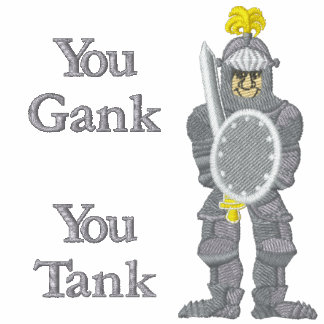 You Gank You Tank Embroidered Polo Shirt