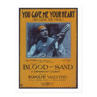 You Gave Me Your Heart Vintage Songbook Cover Postcard