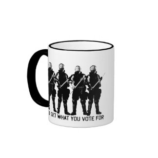 You Get What You Vote For Ringer Coffee Mug
