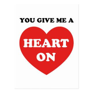 You Give Me A Heart On Postcard