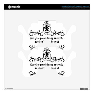 You Give People Funny Moments Medieval quote PS3 Controller Skin