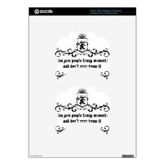 You Give People Funny Moments Medieval quote Xbox 360 Controller Skins
