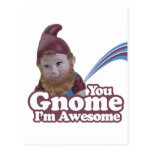 you Gnome I am Awesome Post Cards