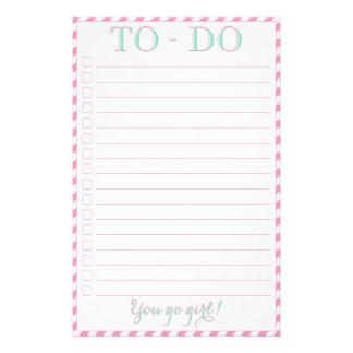 """You Go Girl - To-Do List 5.5"""" X 8.5"""" Flyer"""