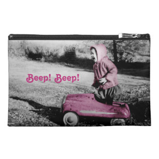 You Go Girl! vintage hot pink travel accessory bag