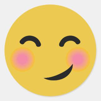 Blushing Smiley Stickers | Zazzle
