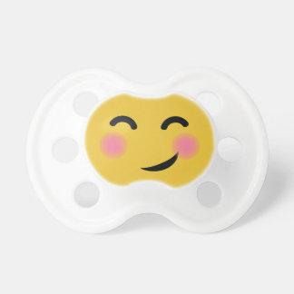 you got me blushing emoji pacifier