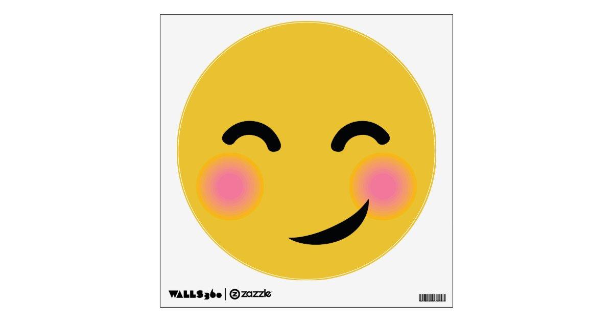 You got me blushing emoji wall decal | Zazzle