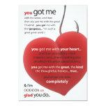 you got me... | mini-print personalized invite
