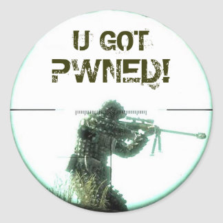 You Got Pwned Classic Round Sticker