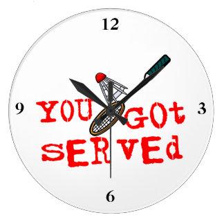 You Got Served Badminton Large Clock