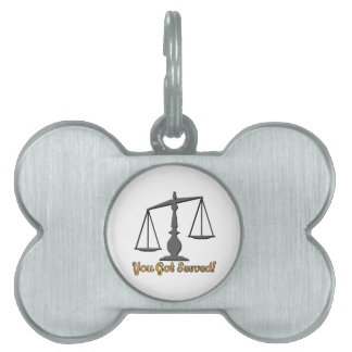 You Got Served! Pet ID Tag