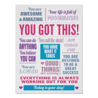 You Got This Inspirational Quote Poster