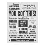 You Got This Motivational Quotes Poster