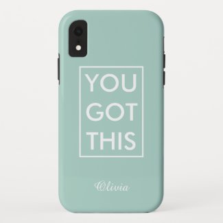 You Got This Name Motivational Quote Light Green Case-Mate iPhone Case