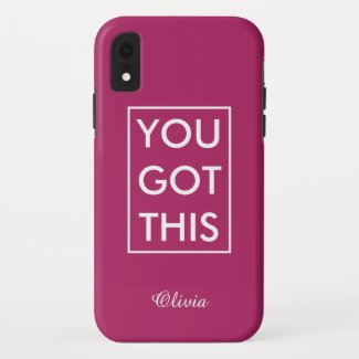 You Got This Your Name Motivational Quote Magenta Case-Mate iPhone Case