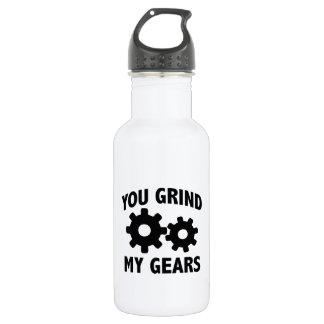 You Grind My Gears 18oz Water Bottle