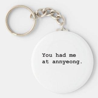 You Had Me at Annyeong Korean K-POP (Couple) Tee Keychain