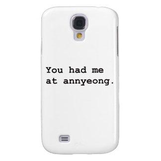 You Had Me at Annyeong Korean K-POP (Couple) Tee Samsung Galaxy S4 Case