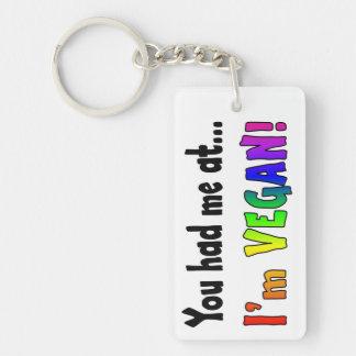 You Had Me At Blk/Rainbow Keychain