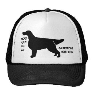 YOU HAD ME AT GORDON SETTER Cap Trucker Hat