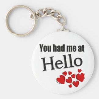 You had me at Hello English Keychain