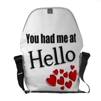 You had me at Hello English Messenger Bag