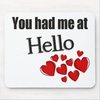 You had me at Hello English Mouse Pad