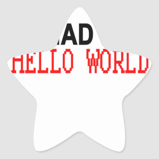You had me at hello world shirts M.png Star Sticker