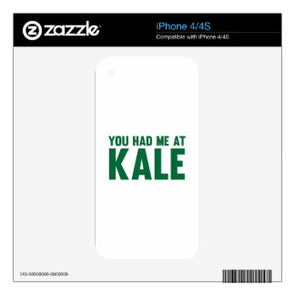 You Had Me At Kale iPhone 4 Skins