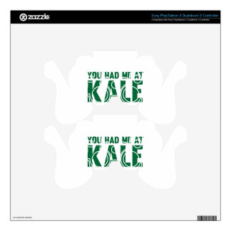 You Had Me At Kale PS3 Controller Skin