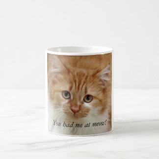 You had me at meow! coffee mug