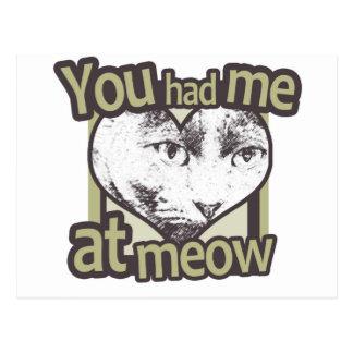 You Had me at Meow Postcard