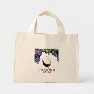 You had me at merlot  #1 mini tote bag