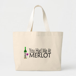 You Had Me At Merlot Wine Bags