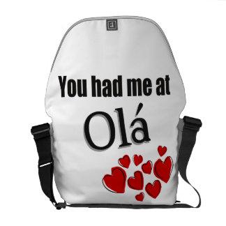 You had me at Olá Portuguese Hello Courier Bag