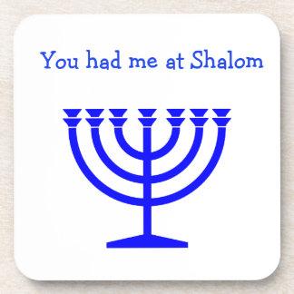 You had me at Shalom Hanukkah coasters