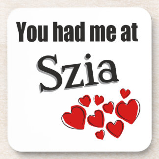 You had me at Szia Hungarian Hello Drink Coasters