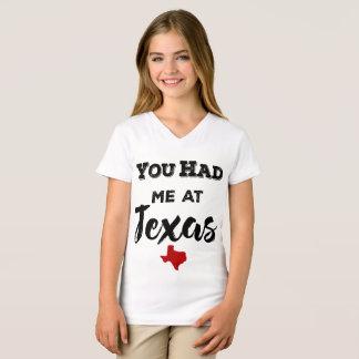 You Had Me at Texas Girls' V-neck T-Shirt