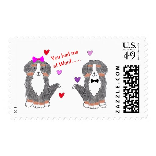 You Had Me At Woof Bernese Mountain Dog Postage