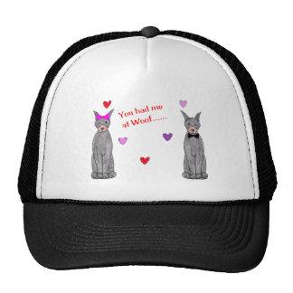 You Had Me At Woof Doberman Pinscher Black Trucker Hat