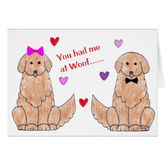 You Had Me At Woof Golden Retriever Greeting Cards