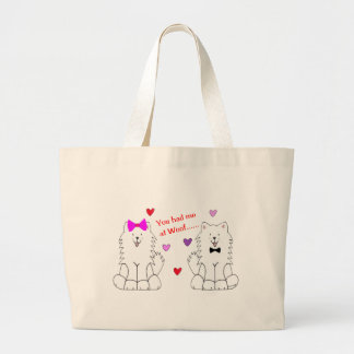 You Had Me At Woof Samoyed Large Tote Bag