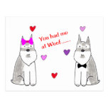 You Had Me At Woof Schnauzer Post Cards