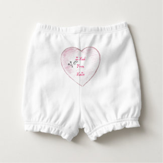 You Had me From Hello Paper Heart Diaper Cover